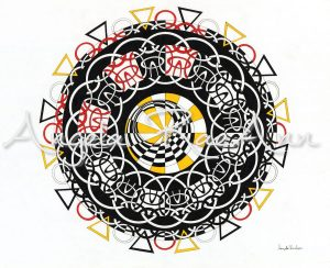 """Tangled Medicine Wheel"" - Tangled Medicine Wheel is about my spiritual path and how messy it can look at feel at times while still being a solid foundation."